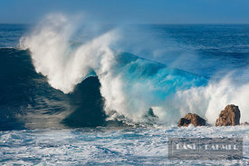 Ocean coast with wave - Africa, France, Reunion, Saint Philippe, Le Baril (Mascarene Islands) - digital