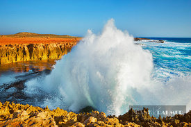 Wave impression at Point Quobba - Australia, Australia, Western Australia, Gascoyne, Point Quobba - digital