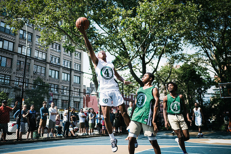 Images by Jean-Louis Carli taken during the AllStar Games of West 4th Street Court games in New York City
