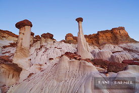 Sandstone erosion landscape at Wahweap Hoodoos - North America, USA, Utah, Kane, Escalante Canyons, Wahweap Hoodoos (Colorado...