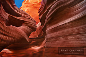 Sandstone erosion landscape in Lower Antelope Canyon - North America, USA, Arizona, Coconino, Lake Powell, Page, Lower Antelo...