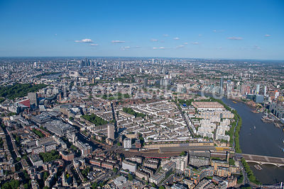 Aerial view of Pimlico and Victoria , London