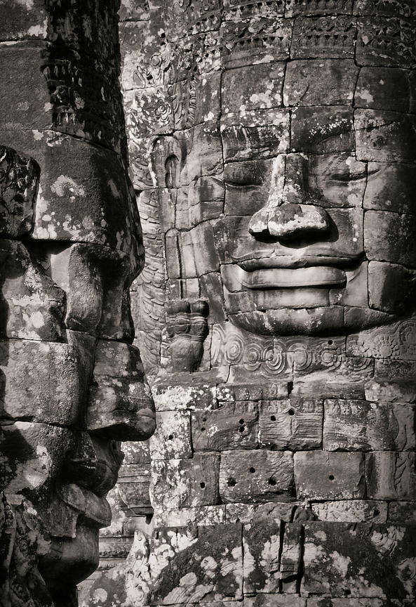 The Bayon, ancient Khmer temple in Angkor Thom