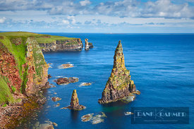 Cliff landscape at Duncansby Stacks - Europe, United Kingdom, Scotland, Caithness, Duncansby Head - digital