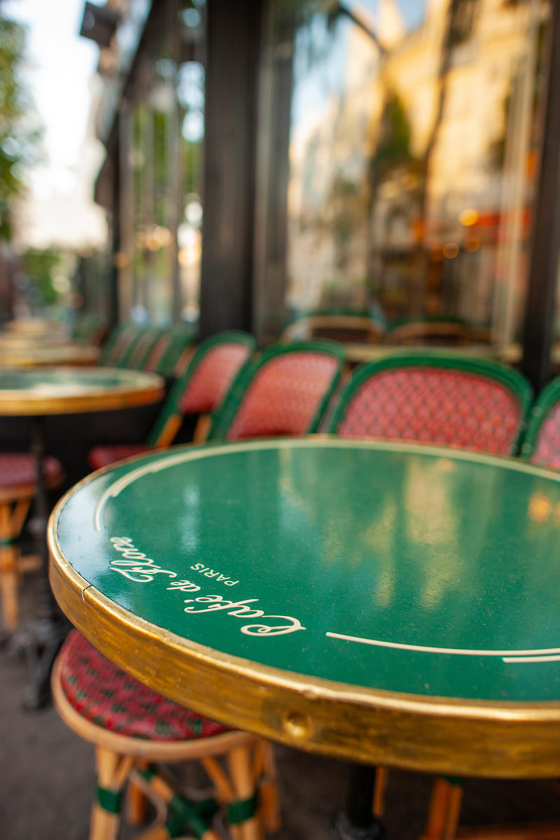 Cafe de Flore, (Tot le Matin) 2012   Photographer Neil Emmerson  Edition of 25.