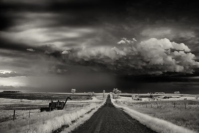Storm clouds over a country road | North Dakota | 2014.