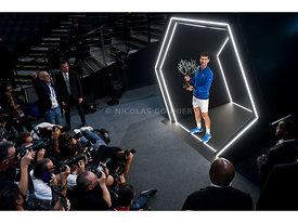 Novak Djokovic, Rolex Paris Masters 2019, Simple Messieurs, Photocall, Photo : Nicolas Gouhier / FFT