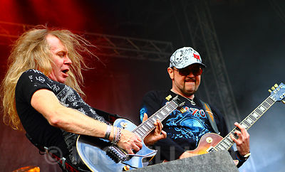 Saxon performing live 24 July 2010