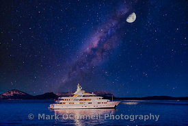 superyacht,St Nicholas,Titania,underwater lights,moon,photos,images