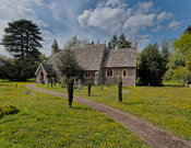 Exterior of St Lawrence Church, Tubney, Oxfordshire, UK
