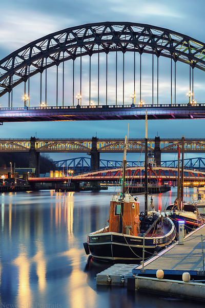 The River Tyne just after Sunset
