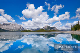 Mountain impression at Upper Kananaskis Lake - North America, Canada, Alberta, Kananaskis Country, Peter Lougheed Provincial ...