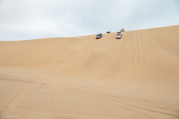 4x4 vehicle in Namib Desert, Namibia, Africa