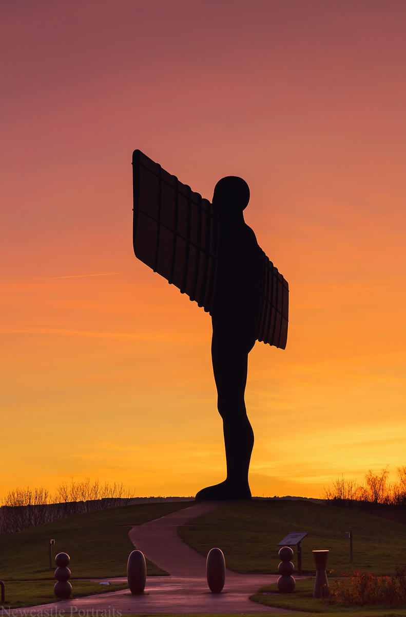 Sunset at the Angel Of The North
