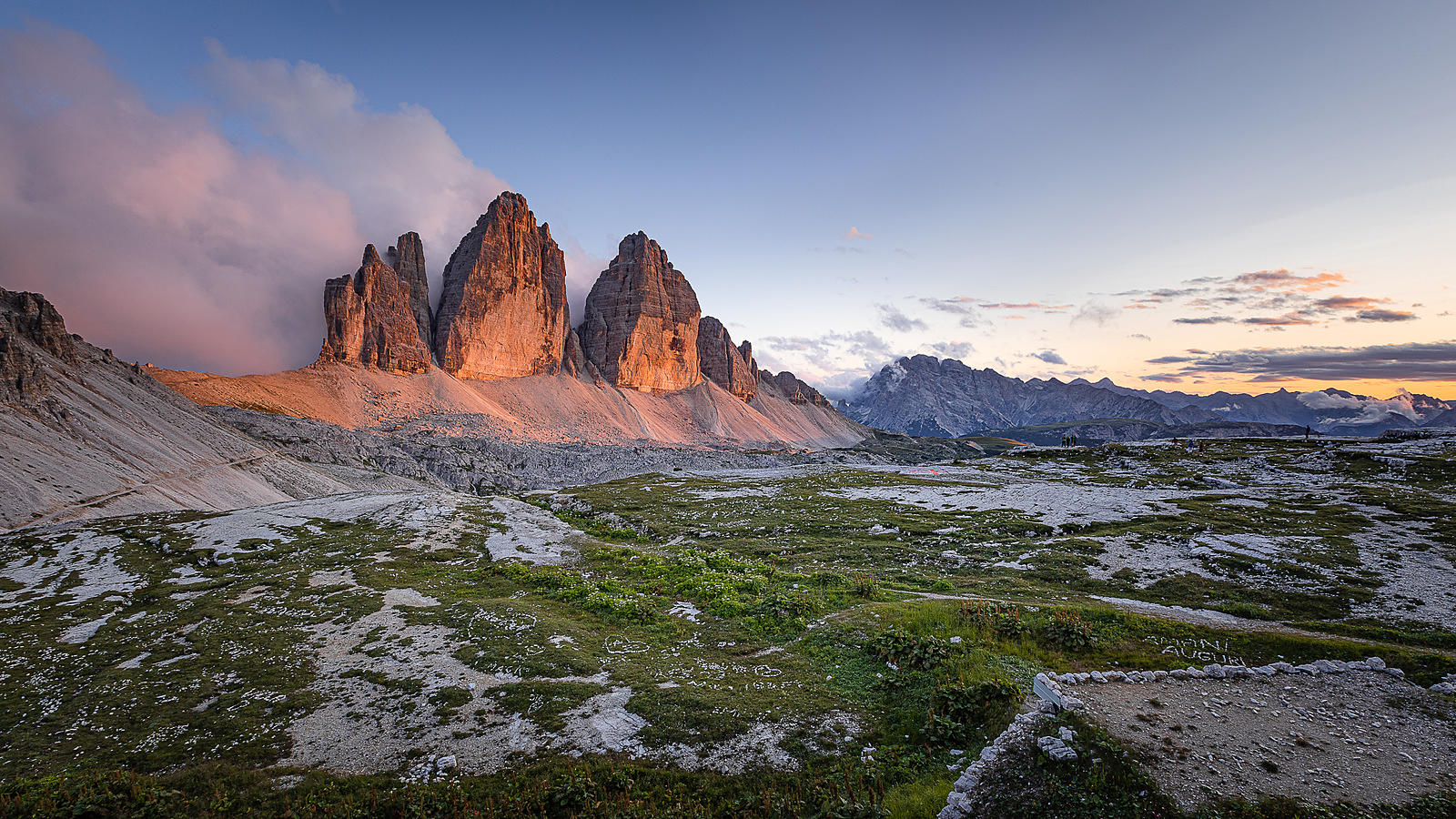 Sunset at Tre Cime di Lavaredo (Dolomites)