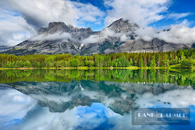 Mountain impression Mount Kidd and Wedge Pond - North America, Canada, Alberta, Kananaskis Country, Spray Lake Provincial Par...