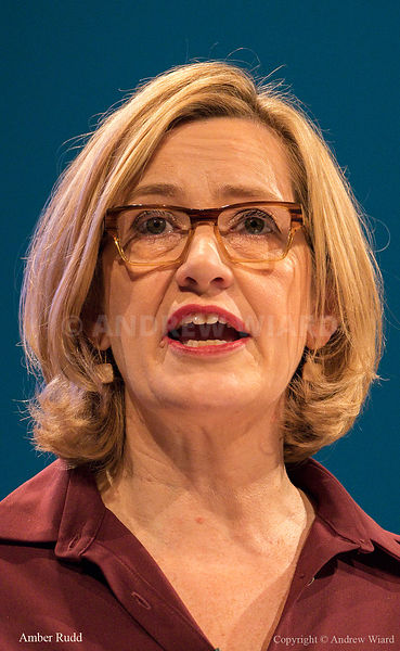 England, UK . 3.10.2017. Manchester . Conservative Party Conference, Tuesday. Amber Rudd.