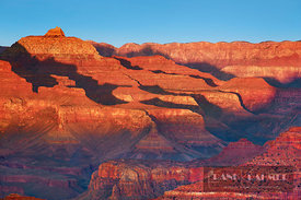 Erosion landscape Grand Canyon - North America, USA, Arizona, Coconino, Grand Canyon, South Rim, Powell Point near Hopi Point...
