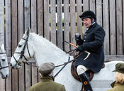 Richard Hunnisett at the meet. The Cottesmore Hunt at Brooke 12/11