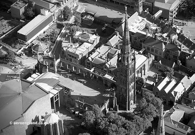 Coventry Cathedral aerial photograph