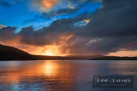 Sunset impression  - Europe, United Kingdom, Scotland, Sutherland, Durness, Kyle of Durness (Highlands, Northwest Highlands) ...