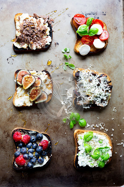 Vegetarian Open Face Sandwich Assortments