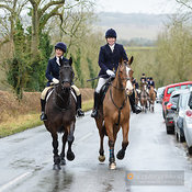 The Cottesmore and Fernie Hunts at Hill Top Farm 10/12