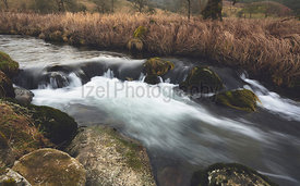 Long exposure of a river flowing through the Yorkshire Dales.
