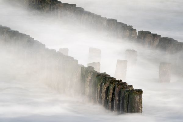 Breakwater in the surf