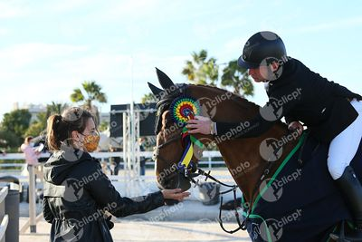 Oliva, Spain - 2020 December 6: Grand Prix during CSI Mediterranean Equestrian Autumn Tour 3.(photo: 1clicphoto)