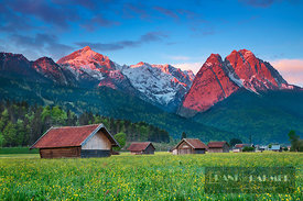 Mountain impression Alpspitze and Waxenstein - Europe, Germany, Bavaria, Upper Bavaria, Garmisch-Partenkirchen (Alps, Wetters...