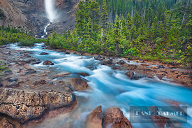 Brook near Takakkaw Falls - North America, Canada, British Columbia, Yoho National Park, Takakkaw Falls (Rocky Mountains) - d...