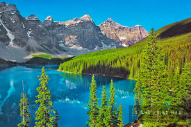 Mountain impression Moraine Lake and Valley of the Ten Peaks - North America, Canada, Alberta, Banff National Park, Moraine L...