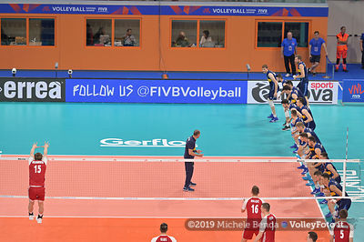 ITALY vs POLONIA - VNL / Volleyball Nations League 2019 Men's - Pool 14, Week 4.