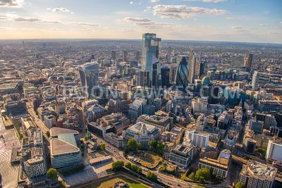 The City of London, Fenchurch St, London, aerial view