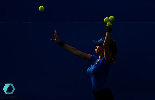 A ball girl during day one of the 2017 AEGON Championships at The Queen's Club, London. PRESS ASSOCIATION Photo. Picture date...