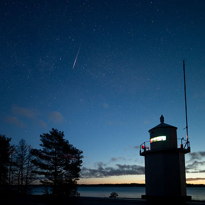 Quadrantid meteor above southern Finland on Jan 4 2019.