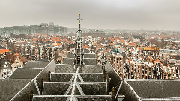 View from the Old Church over Amsterdam