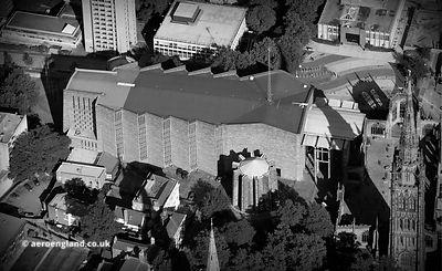 Coventry new Cathedral aerial photograph