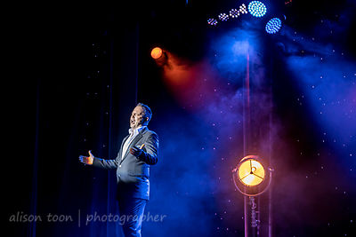 Harvey James, singer, Cromer Pier Show 2019 show two