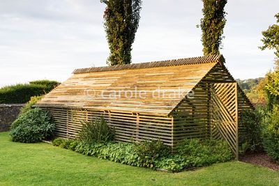 Shade house at Bourton House, Moreton-in-Marsh in August