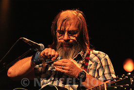 Steve Earle performing live at Cambridge Folk Festival