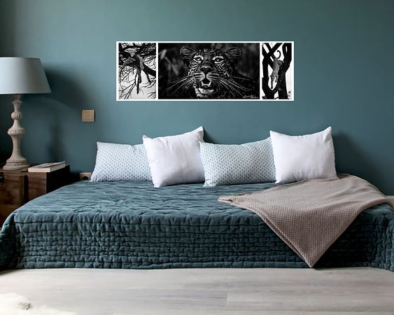 Leopards triptych