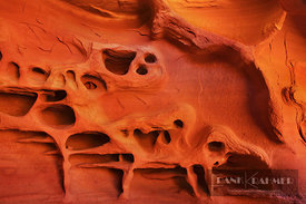 Sand stone structures in Windstone Cave in Valley of Fire - North America, USA, Nevada, Clark, Valley Of Fire, Arch Rock Regi...