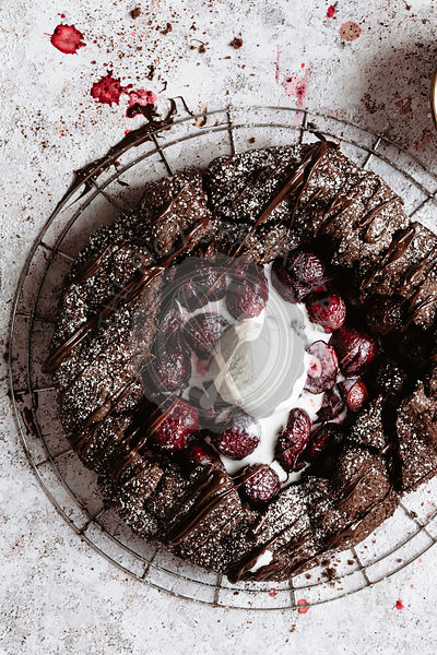 Cherry and chocolate galette