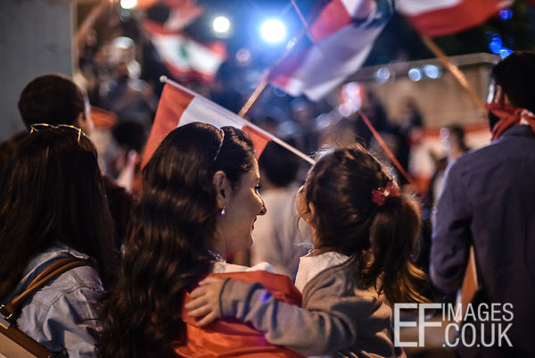 Rafik Hariri Airport arrivals on Day 37 of country-wide protests in Lebanon. Lebanese expats travelled from France and the UA...