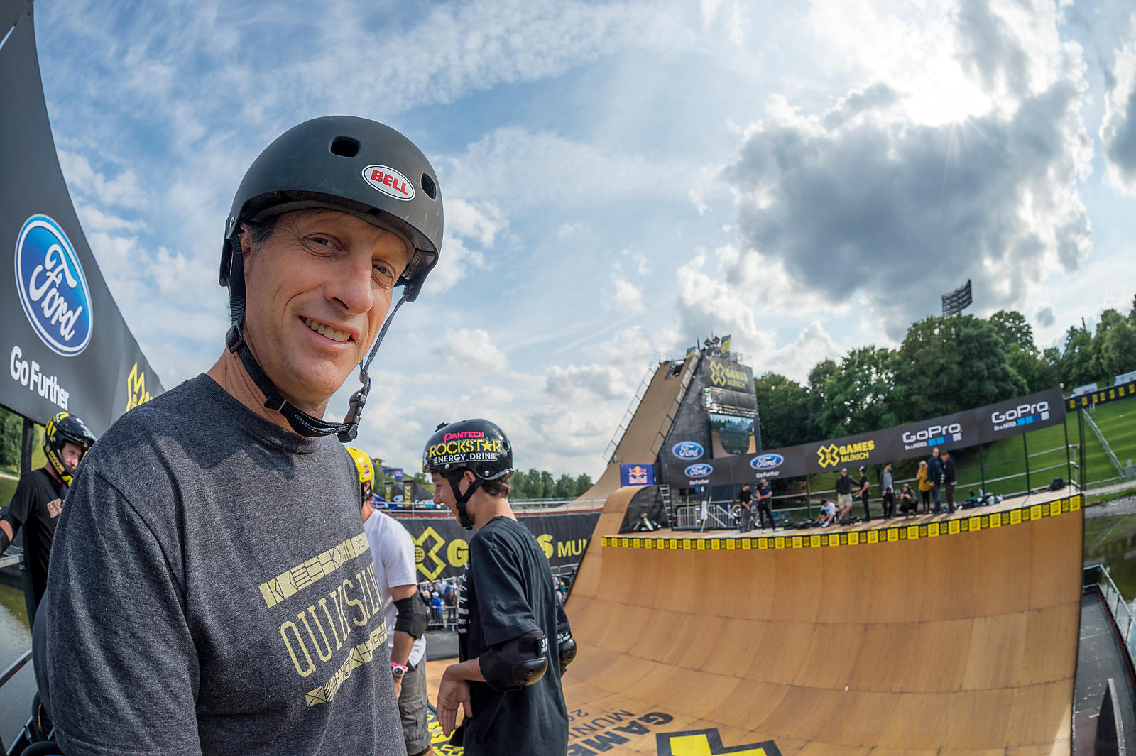 Munich, Germany - June 26, 2013 - Olympiapark: Tony Hawk during Tony Hawk and Friends Skateboard Vert demo during X Games Mun...