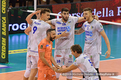 Top Volley Latina vs Sir Safety Conad Perugia, 1ª giornata Campionato Italiano di Pallavolo Maschile Superlega Credem Banca