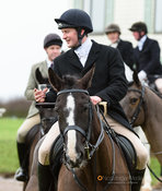 Ed Martin at the meet. The Cottesmore Hunt at Lowesby Grange Farm 14/1