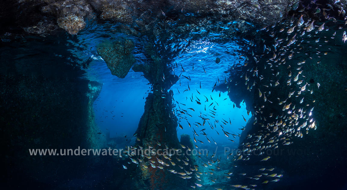 Into the underwater cave